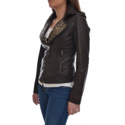 MINORONZONI  leather jacket with studs