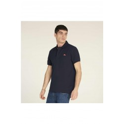 MUSEUM Men's short sleeve piqué polo shirt, embroidered logo on the chest, regular fit.