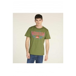 MUSEUM Men's half sleeve t-shirt in jersey, front print, HILLTOWN model, regular fit.