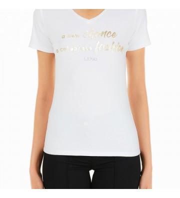LIU JO t-shirt scollo a V...